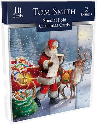 Pack of 10 Special Folded Christmas Cards