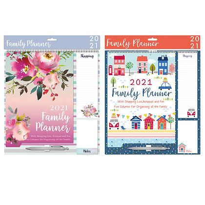2021 Family Planner With Notepad & Pen