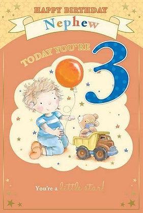Nephew Today You're 3