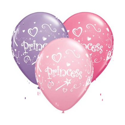 "6 x 11"" Latex Princess Balloons"