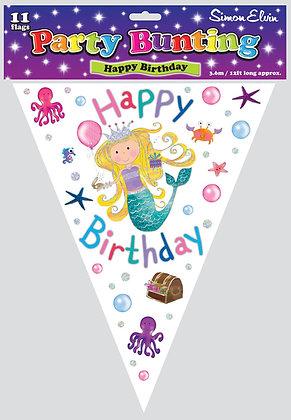 Happy Birthday Mermaid Bunting