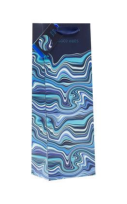 Blue Wave Bottle Bag