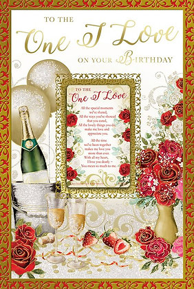 One I Love On Your Birthday With Keepsake Card