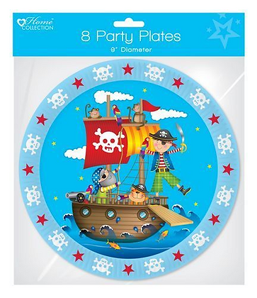 8 Pirate Party Plates