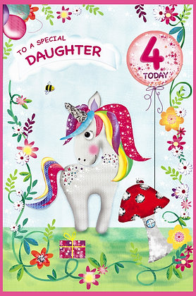 Age 3 or 4 Personalise Age Sticker Card