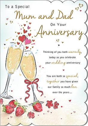 Mum & Dad On Your Anniversary