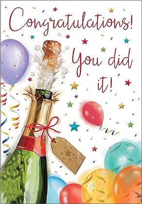 Congratulations You Did It