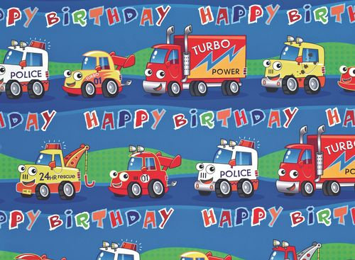 2 x Truck Gift Wrap Sheet & Tags