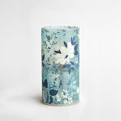 Blue Floral Bio Oil Candle Lamp