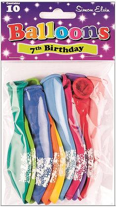 "10 x 9"" Age 7 Balloons"