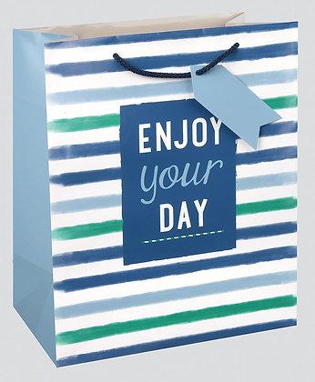 Blue Stripe Gift Bag