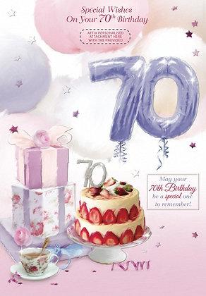70th Birthday - Personalise