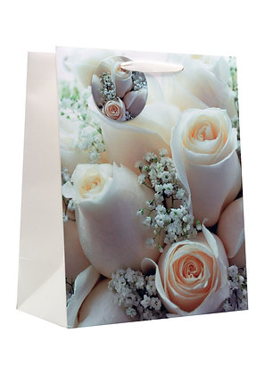 Large Floral Wedding Gift Bag
