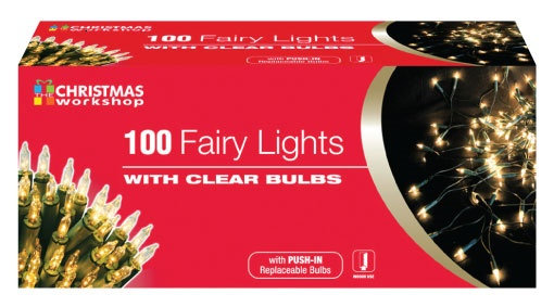 100 Clear White Fairy Lights