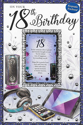Happy 18th Birthday Keepsake
