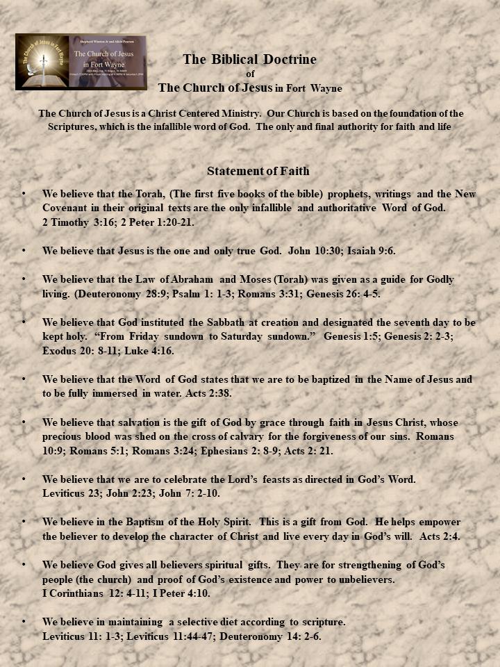 The Biblical Doctrine Of The Church Of J