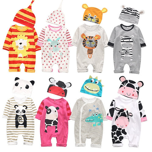 0-12m Newborn Outfits Cotton Rompers Baby Costume Jumpsuits Autumn Infant