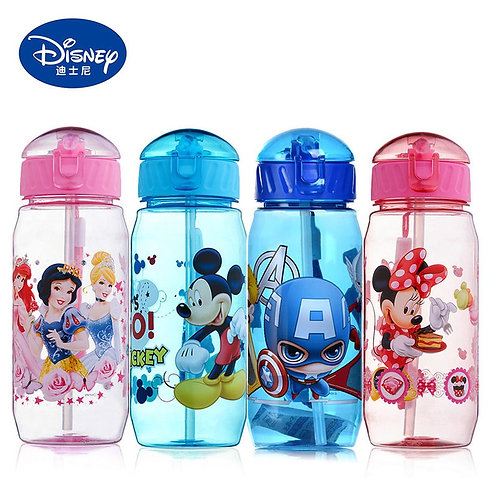 Disney Cartoon Mickey Mouse Miniie Children's Plastic Cup Straw Cup Students