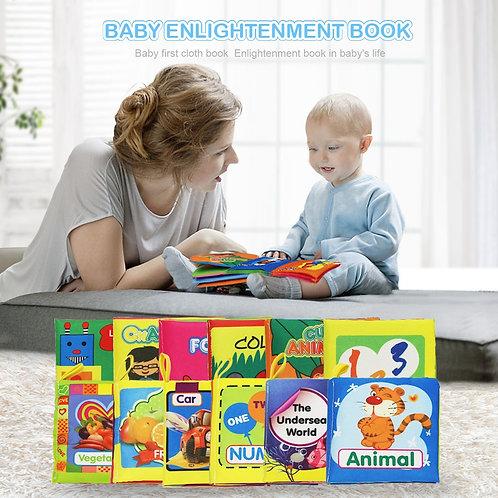 Soft Cloth Books Rustle Sound Infant Books Baby Books Quiet Books Educational
