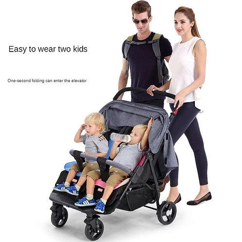 Twin Four-Wheeled Baby Stroller Convenient Stroller