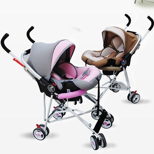Baby Sleeping  Newborn Car Safety Seat Baby Stroller 2 in 1 Folding Travel