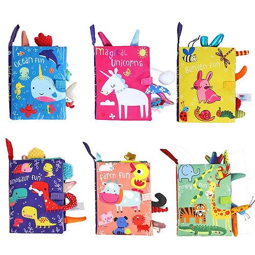 High Quality Baby Cartoon Cloth Book Newborn Early Educational Games Toys 0-24