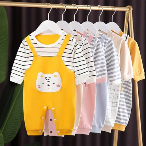 Brand Cartoon Baby Boy Girl Clothes New Born Rompers Cotton Outfit Newborn