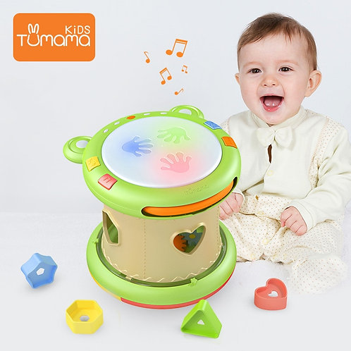 Tumama Baby Music Toys Hand Drums Children Musical Instruments Pat Drum Baby