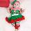 Thumbnail: Infant Girls' Romper Dress Festival Christmas Costume Set Short Sleeve