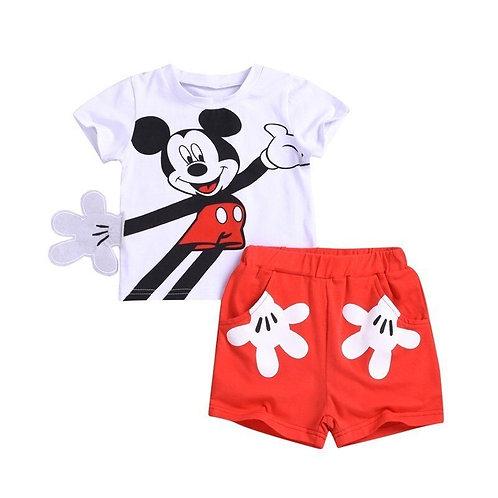 2pcs Baby Boy Clothing Set Mickey Cotton Baby Girl Clothing Set Summer Baby Boy