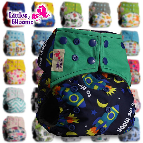 [Littles&Bloomz] BAMBOO CHARCOAL Washable Reusable Cloth Nappies Baby Diapers