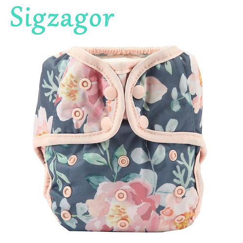 [Sigzagor]2020 NEW One Size Baby Cloth Diaper Cover Nappy Double Gusset 4-13kg