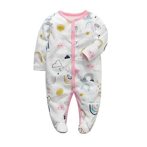 Baby Girls Clothes Newborn Sleeper Infant Jumpsuit Long Sleeve 3 6 9 12 Months