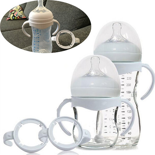 Bottle Grip Handle for Natural Wide Mouth PP Glass Baby Feeding Bottles Baby