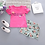 Thumbnail: Baby Girls Clothes Floral Printed Short Sleeve Strapless T-Shirt+pant 2pcs Girl