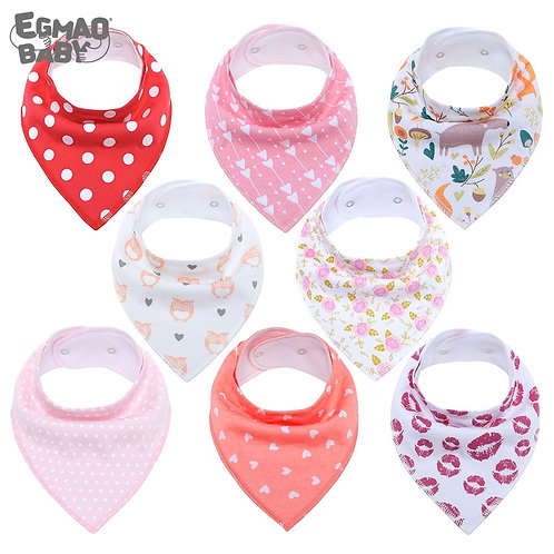 Baby Bandana Drool Bibs Unisex 8-Pack Gift Set for Drooling and Teething Organic