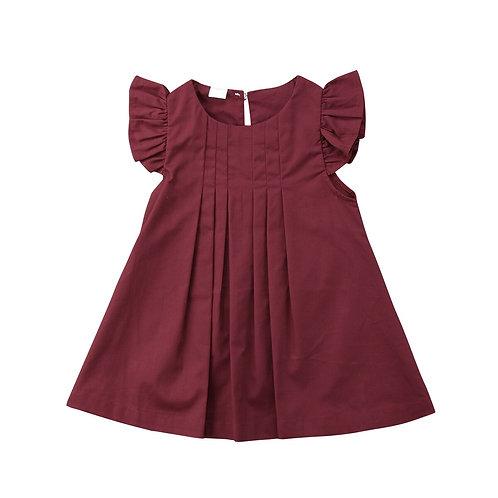 Infant Baby Girls Kids Clothes Summer Flutter Pure