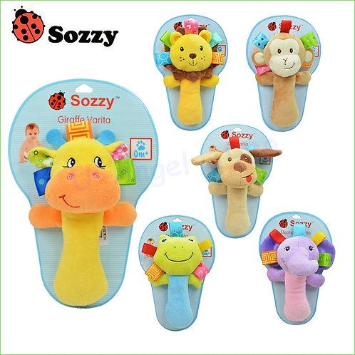 Sozzy Musical Baby Rattles Plush Infant Baby Toys Animal Plush