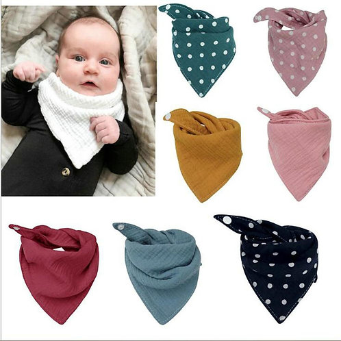 Baby Bibs Boys Accessories Newborn Girls Burp Bandana Cotton Soft