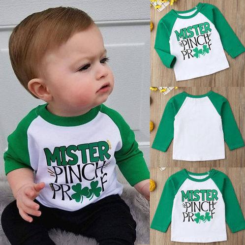 My 1st St. Patrick's Day Lucky Clover Toddler Kids Baby BOY Girls Summer