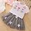 Thumbnail: Summer Girls' Clothing Sets Korean Denim Short-Sleeved T-Shirt+High Waist Skirt
