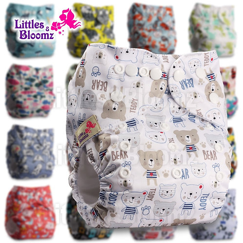 [Littles&Bloomz]Baby Washable Cloth Nappy Reusable Pocket Diaper Inserts