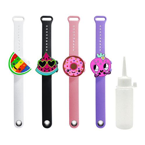 Cute Children Cartoon Wristband Hand Sanitizer Bracelet Dispenser Outdoor