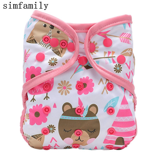 [Simfamily]1PC Reusable Cloth Diaper Cover Washable Waterproof Baby Nappy PUL