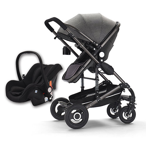 Baby Stroller 3 in 1 Pram With Car Seat Travel System Baby Stroller