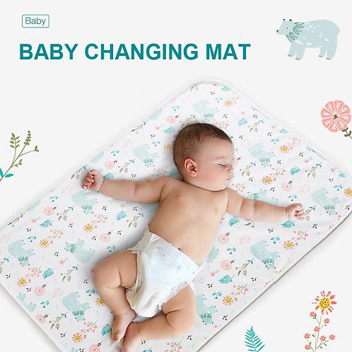 Reusable Baby Waterproof Mattress Cotton Diaper Changing Floor Game Mat Bamboo