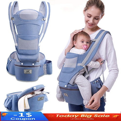 New 0-48 Month Ergonomic Baby Carrier Infant Baby Hipseat Carrier 3 in 1 Front