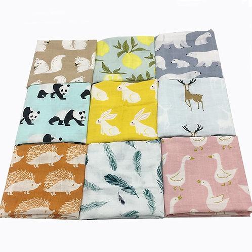New Cotton Baby Blankets Newborn Soft Organic Cotton Baby Blanket Muslin Swaddle