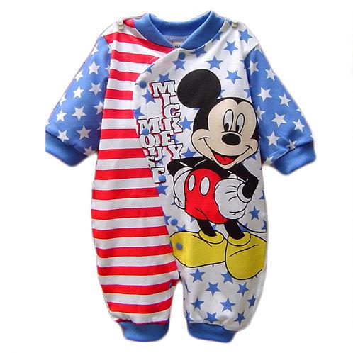 Disney Baby Boy Clothes Cotton Baby Rompers Mickey Rouaps Bebe Cartoon Baby Girl