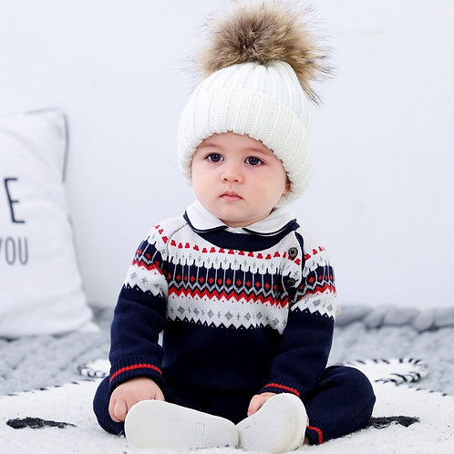 Baby Clothes 6-24 Month Sweater Jumpsuit Spring Autumn Knitted Infant Clothing
